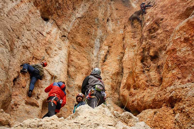 grupo de escalada en calcena
