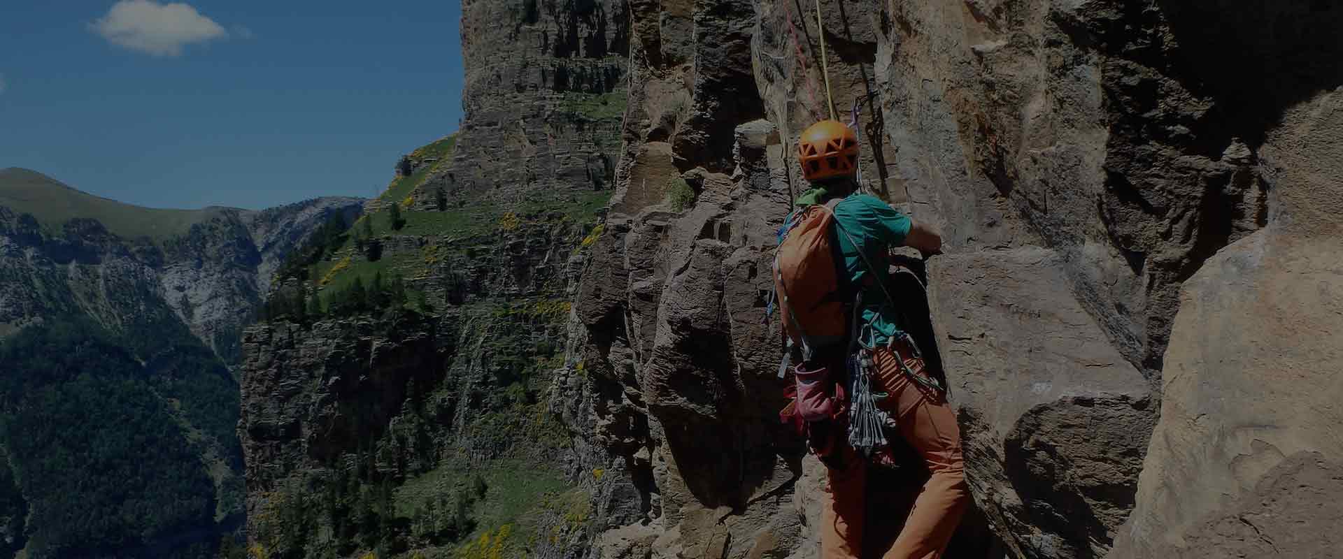 aprender escalar vias de varios largos escalada clasica