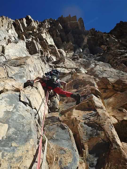 Escalada clasica en Pirineos