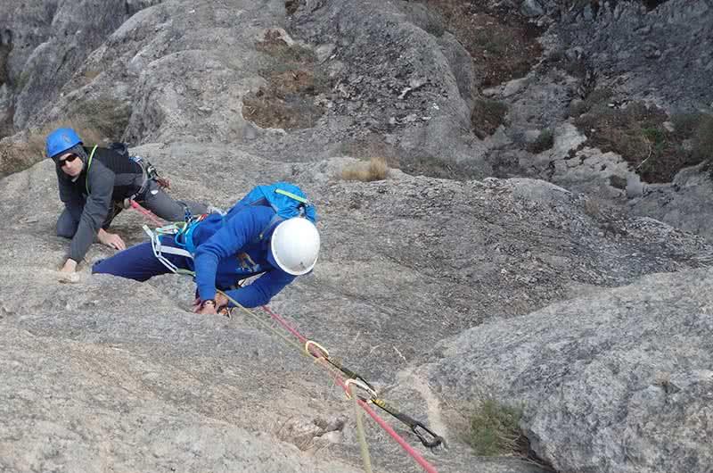 Guiajes de escalada en Calcena