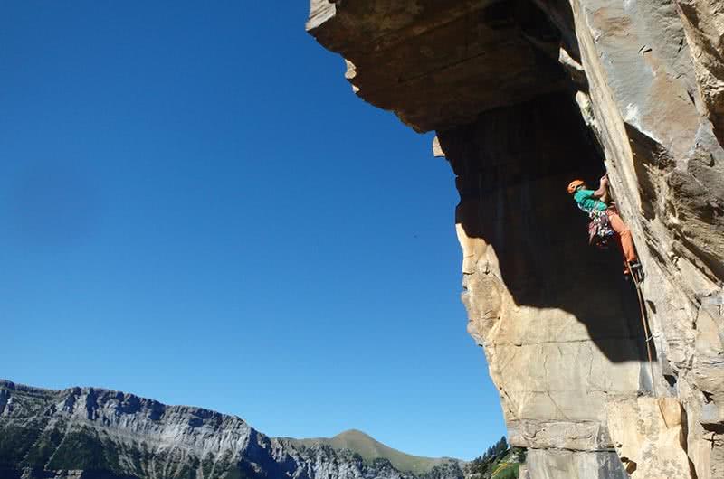 Guiaje de escalada en ordesa pirineo aragones