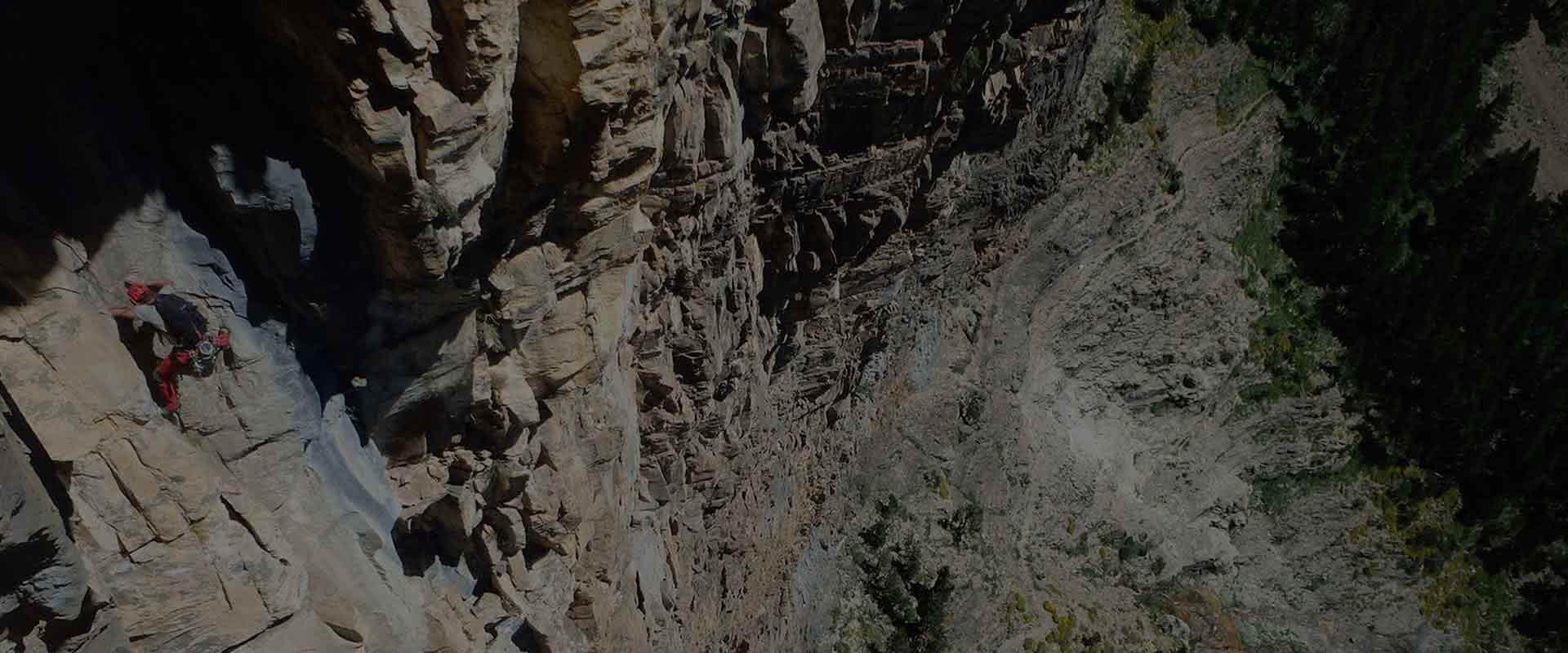 Guiaje de escalada en pirineos