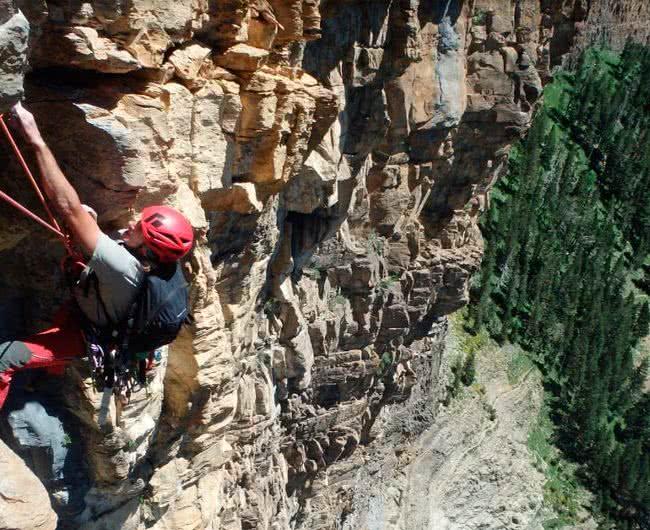 Escalada guiada en Pirineos