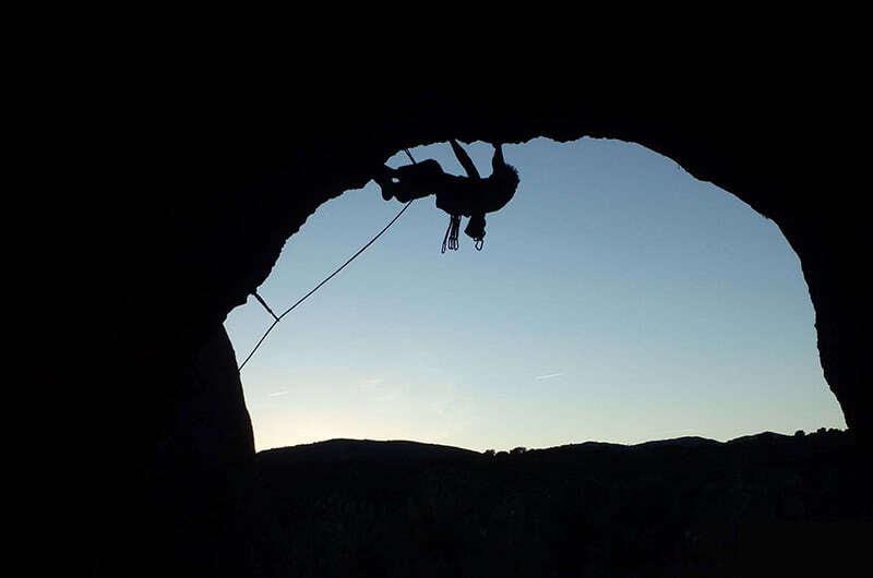 Desplome de escalada