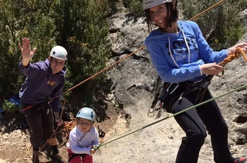 escalada en familia en Calcena