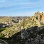 Vista de la zona de escalada de Calcena